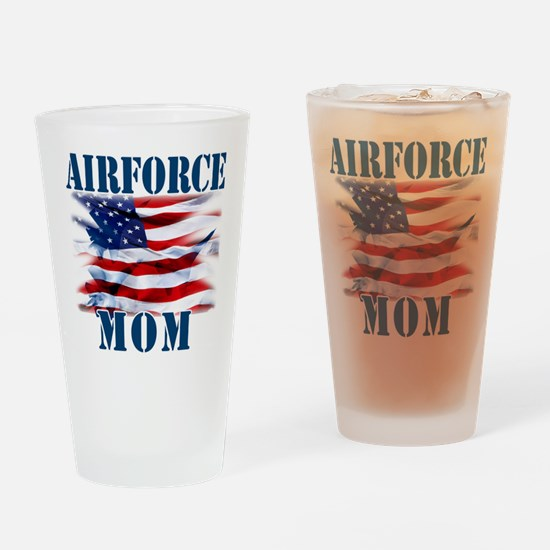 Airforce Mom Drinking Glass
