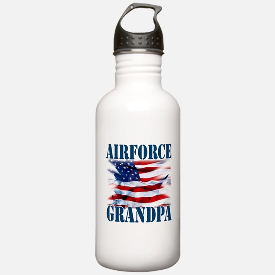 Airforce Grandpa Water Bottle