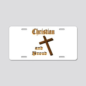 PROUD CHRISTIAN Aluminum License Plate