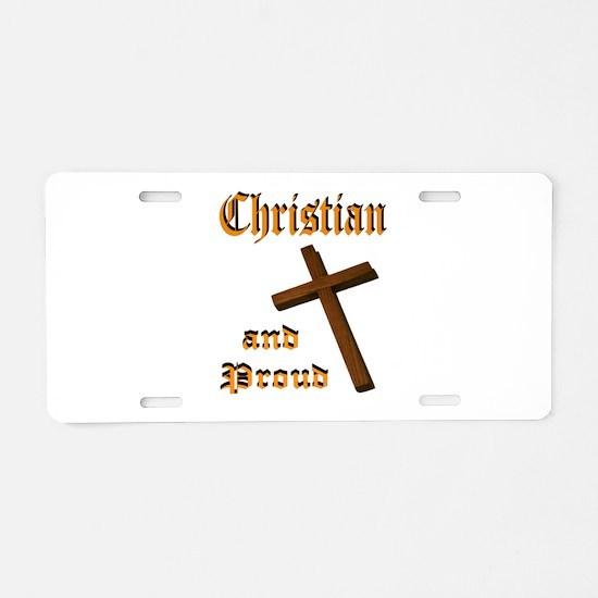 PROUD CHRISTIAN Aluminum License Plate
