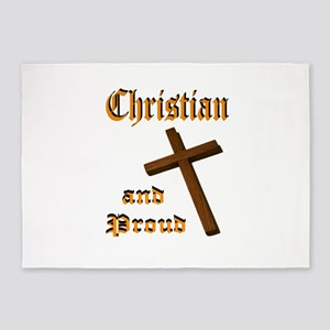 PROUD CHRISTIAN 5'x7'Area Rug