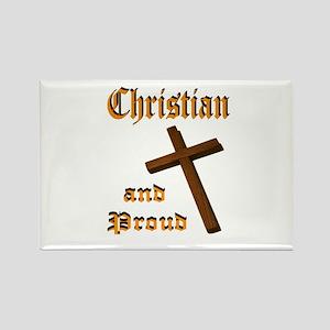 PROUD CHRISTIAN Rectangle Magnet