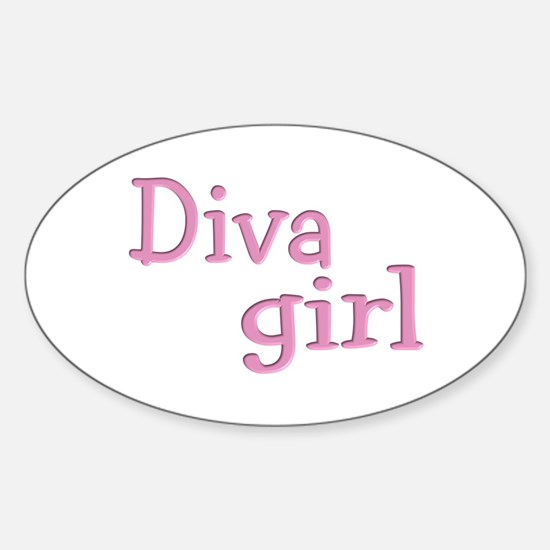 """Diva Girl"" Oval Decal"
