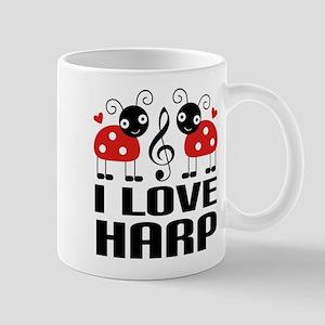 I Love Harp Ladybug Mug