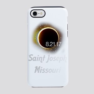 solar eclipse 2017 saint josep iPhone 7 Tough Case