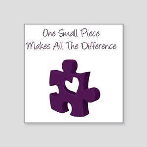 One Small Puzzle Piece - Autism Support Square Sti
