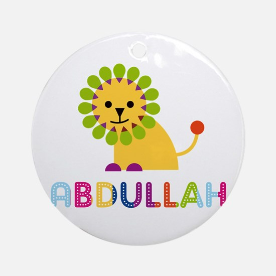 Abdullah Loves Lions Ornament (Round)