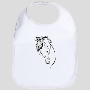 Line Drawn Horse Head Bib