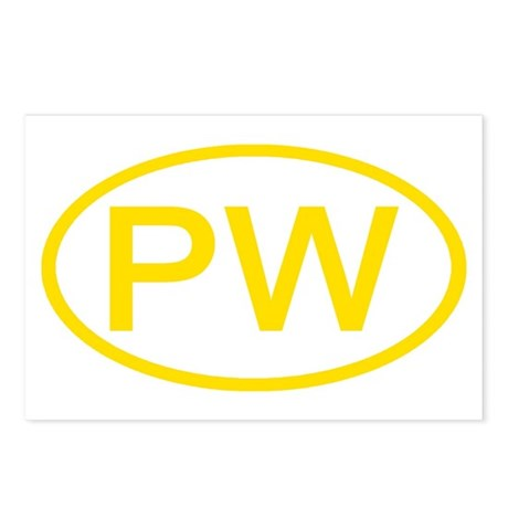 PW Oval - Palau Postcards (Package of 8)