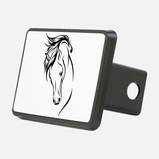 Line Drawn Horse Head Hitch Cover