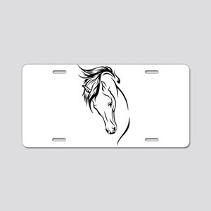 Line Drawn Horse Head Aluminum License Plate