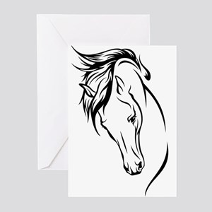 Line Drawn Horse Head Greeting Cards (Pk of 10)