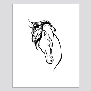 Line Drawn Horse Head Small Poster