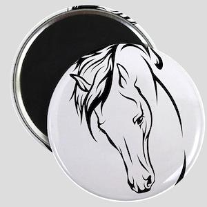 Line Drawn Horse Head Magnet