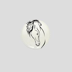 Line Drawn Horse Head Mini Button