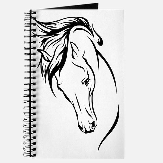 Line Drawn Horse Head Journal