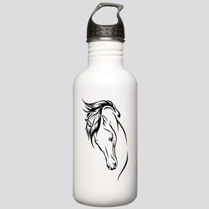 Line Drawn Horse Head Stainless Water Bottle 1.0L