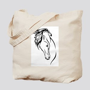 Line Drawn Horse Head Tote Bag