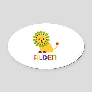 Alden Loves Lions Oval Car Magnet