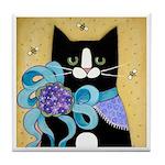 FAT Tuxedo CAT Ponytail Diva ART Tile