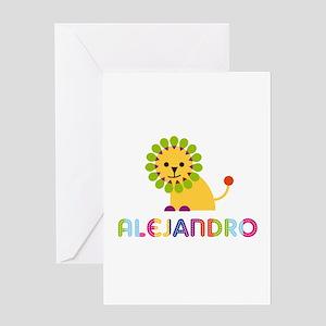 Alejandro Loves Lions Greeting Card