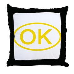 OK Oval - Oklahoma Throw Pillow