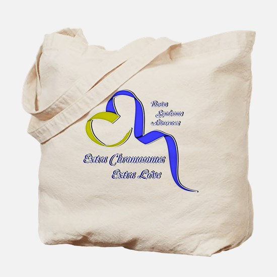 Down Syndrome Awareness Ribbon Tote Bag