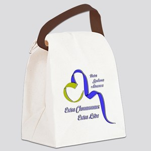 Down Syndrome Awareness Ribbon Canvas Lunch Bag