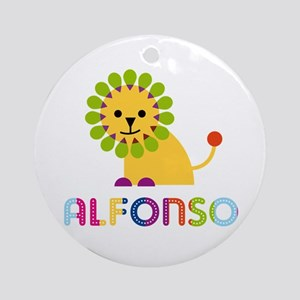Alfonso Loves Lions Ornament (Round)