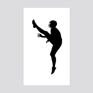Football Silhouette Sticker (Rectangle)