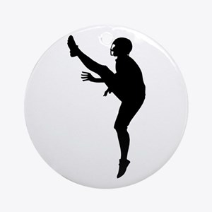 Football Silhouette Ornament (Round)