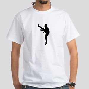 Football Silhouette White T-Shirt