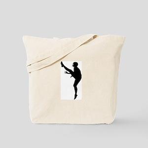 Football Silhouette Tote Bag