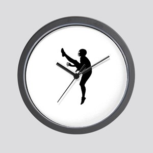 Football Silhouette Wall Clock
