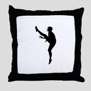Football Silhouette Throw Pillow