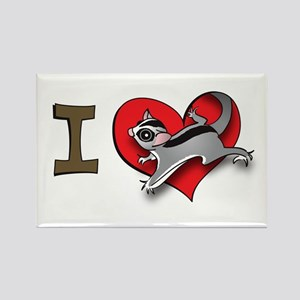 I heart sugar gliders Rectangle Magnet