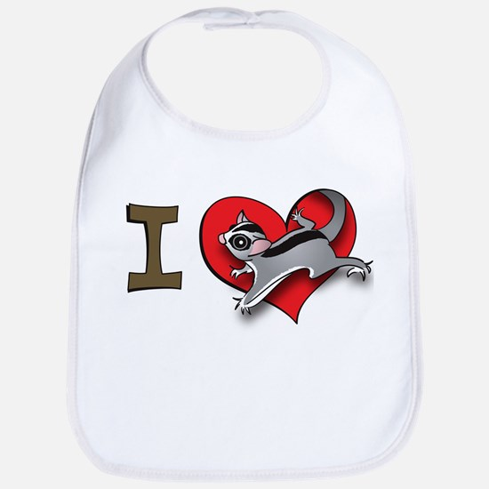 I heart sugar gliders Bib
