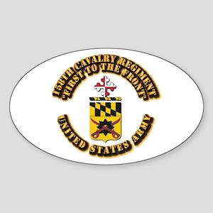 COA - 158th Cavalry Regiment Sticker (Oval)