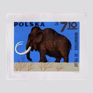 Vintage 1966 Poland Mammoth Postage Stamp Throw Bl
