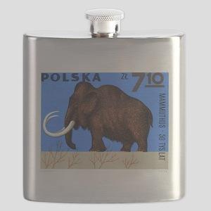 Vintage 1966 Poland Mammoth Postage Stamp Flask