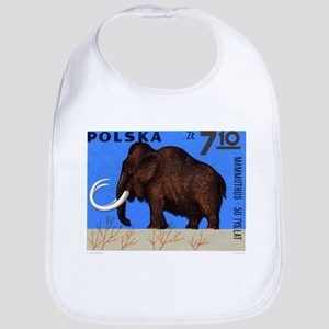 Vintage 1966 Poland Mammoth Postage Stamp Bib
