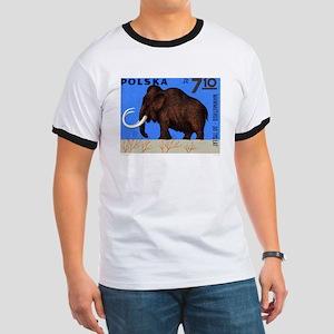 Vintage 1966 Poland Mammoth Postage Stamp T-Shirt