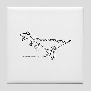Charlie's Troodon Tile Coaster