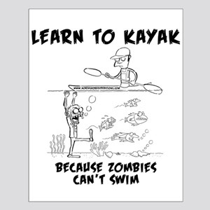 Zombie vs. Kayaker Posters
