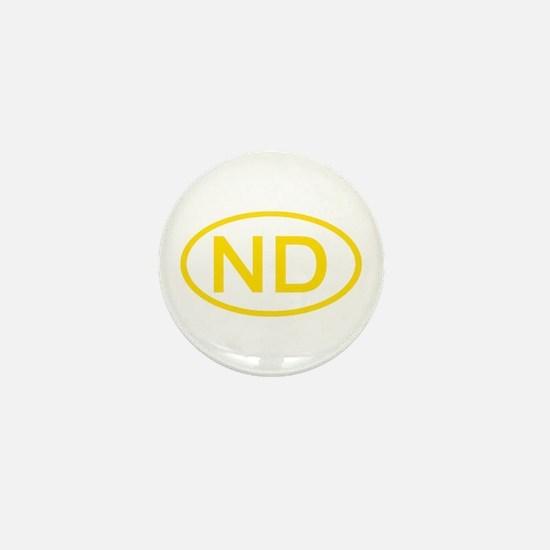 ND Oval - North Dakota Mini Button