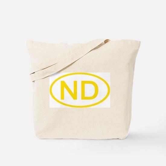 ND Oval - North Dakota Tote Bag