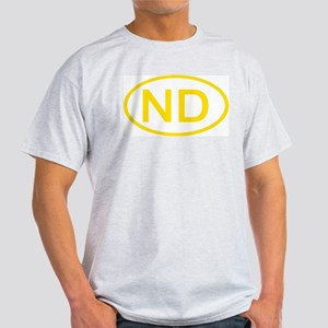 ND Oval - North Dakota Ash Grey T-Shirt