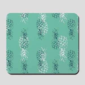 Tropical Pineapple on Aqua Mousepad