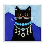 Black Native American CAT Jewelry ART Tile