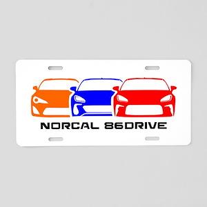 NorCal 86 DRIVE Aluminum License Plate